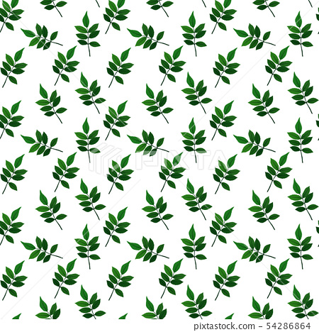 Silhouette of beautiful leaves. Seamless Pattern 54286864
