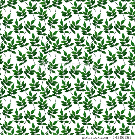 Silhouette of beautiful leaves. Seamless Pattern 54286865