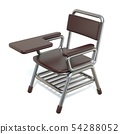 Writing pad student chair 3D 54288052