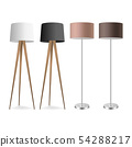Vector 3d Realistic Render Lamp Set Closeup Isolated on White Background. Floor Lamps. Template of 54288217