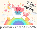 cute cartoon hearts 54292297