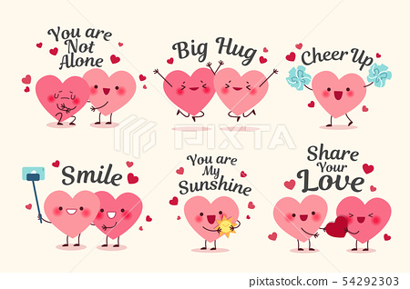 cute cartoon hearts 54292303