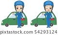 Mechanic woman hand instruction 54293124