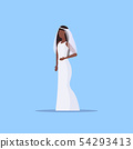 romantic bride in white dress african american girl in gown model standing pose wedding concept flat 54293413