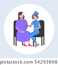 female doctor examining woman patient by stethoscope checking heart beat or breath medicine 54293608