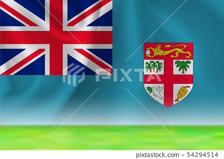Fiji Flag Grand Background 54294514