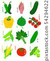 여름 야채 글자 Summer vegetable 54294622