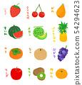 時令水果字母水果 54294623