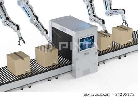 Automation factory concept 54295375