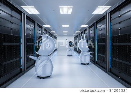 Robot in server room 54295384