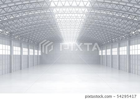 Empty factory interior 54295417