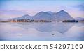 Panorama of Isola Superiore Pescatori island summer sunset 54297169