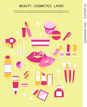 Lipstick, mascara, brush, eye shadow, powder, makeup, cosmetics, beauty, beauty, skin care 54298516