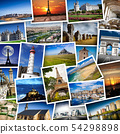 collage of French images in white background 54298898