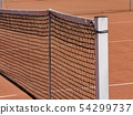 Tennis field net detail 54299737