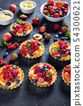 close-up of fresh summer tartls, top view 54300621