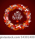 Christmas wreath in colors of a flag of Spain with 54301400