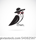 Vector of owl fashion design on white background. 54302567