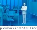 在會議室裡思考的商人 54303372