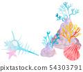 산호와 조개 54303791