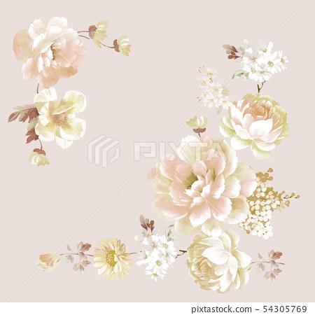 새롭게 화초 花环, 插画 54305769
