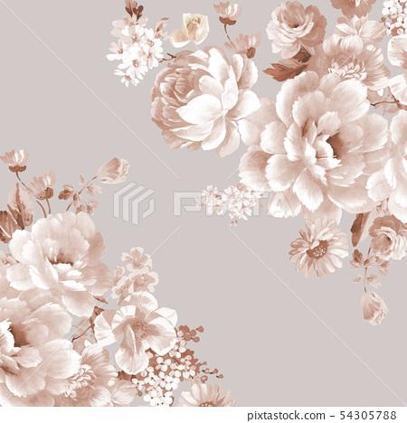 Seishin flower arrangement, flower arrangement, drawing 54305788