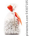 bag of comfits in white background 54307105