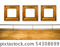 frames hanging on white wall 54308699