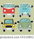 vector cartoon car pack set.Camper van. Summer vac 54310801