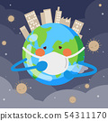 earth cough because dust and smoke , dust on the a 54311170