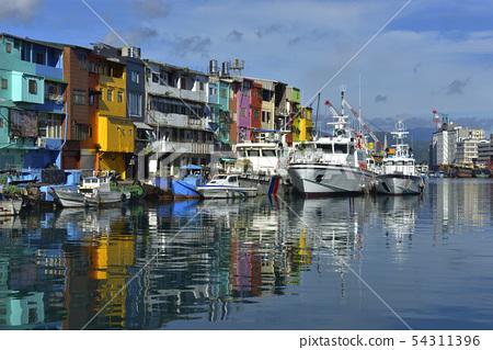 基隆觀光景點,正濱漁港彩色屋,基隆正濱漁港,基隆市,基隆,正濱漁港 54311396