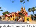 Wat Si Chum temple, beautiful monastery decorated 54311537