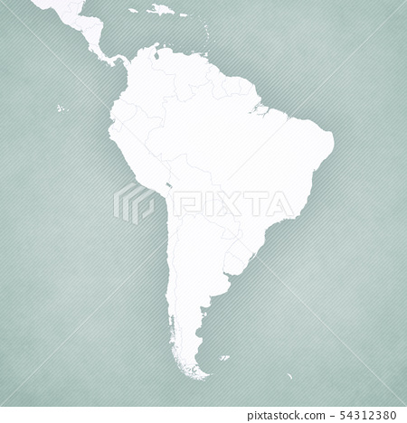 Blank Map of South America 54312380