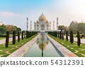 Taj Mahal front view. 54312391