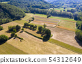 mature wheat farmed fields aerial drone panorama 54312649