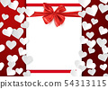 Love postcard template, Valentine background with 54313115