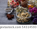 Herbs and dry flowers for healthy tea 54314593