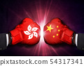 political and Trade conflict Concept  between Hong 54317341