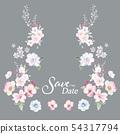 色彩豐富的水彩花卉和邀請卡設計 54317794