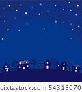 夜风景例证 54318070