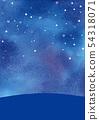 夜空水彩背景例证 54318071