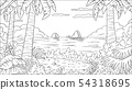 Coloring Book Tropical Landscape 54318695