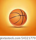 Basketball ball isolated orange icon background. Basket ball team illustration design 54321770