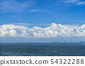 Blue sky background with white clouds. 54322288