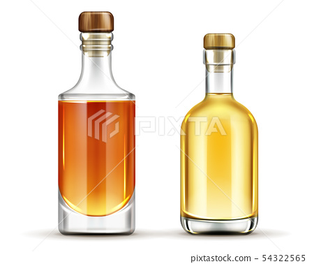 Bottles set of tequila, whiskey, bourbon drinks 54322565