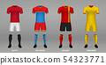 Set of realistic football kits, 54323771