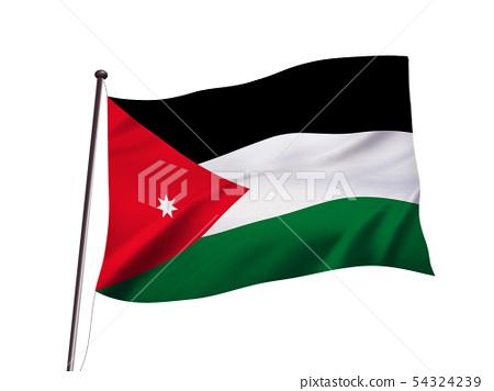 约旦国旗图像 54324239