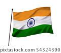 印度国旗图像 54324390