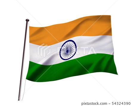 印度國旗圖像 54324390