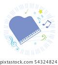 그랜드 피아노와 음표 54324824